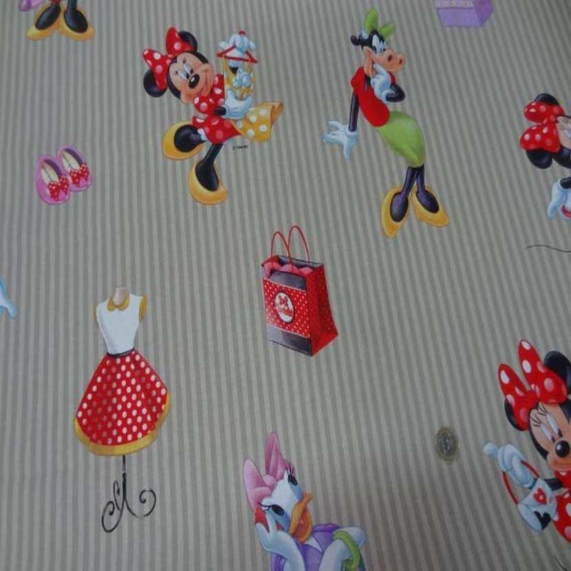 Coton imprime enfant ton beige imprime mini et clara belle1