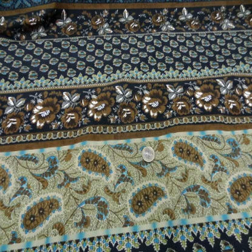 Coton imprime motifs fleurs cash mir