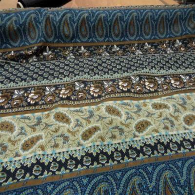 Coton imprime motifs fleurs cash mir0