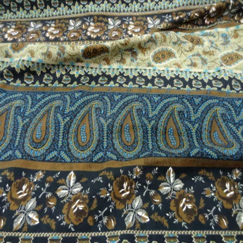 Coton imprime motifs fleurs cash mir9