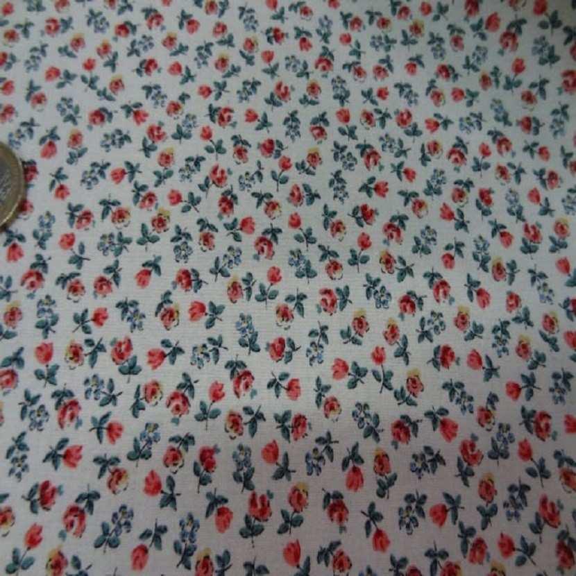 Coton imprime petite fleurs