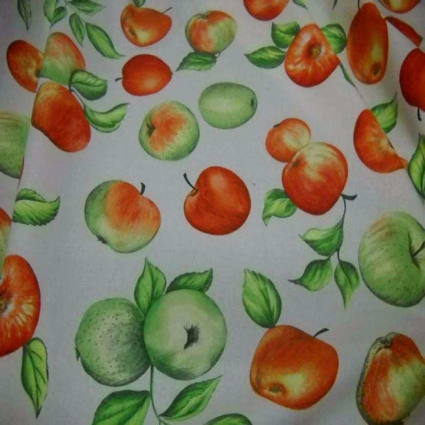 Coton imprime pommes