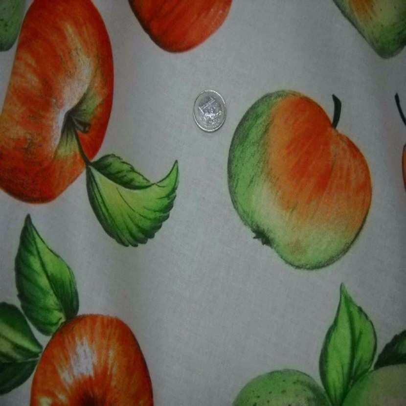Coton imprime pommes3