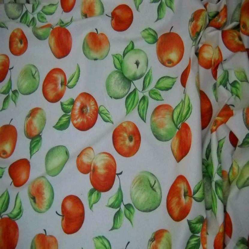 Coton imprime pommes7
