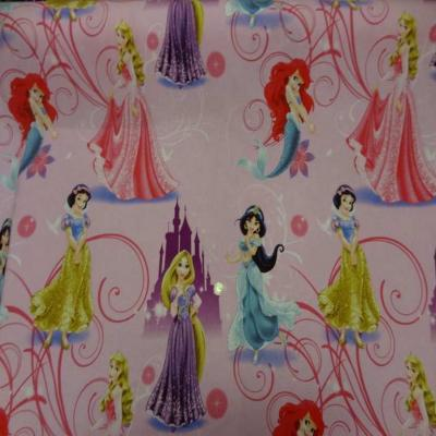 Coton imprime princesse walt disney