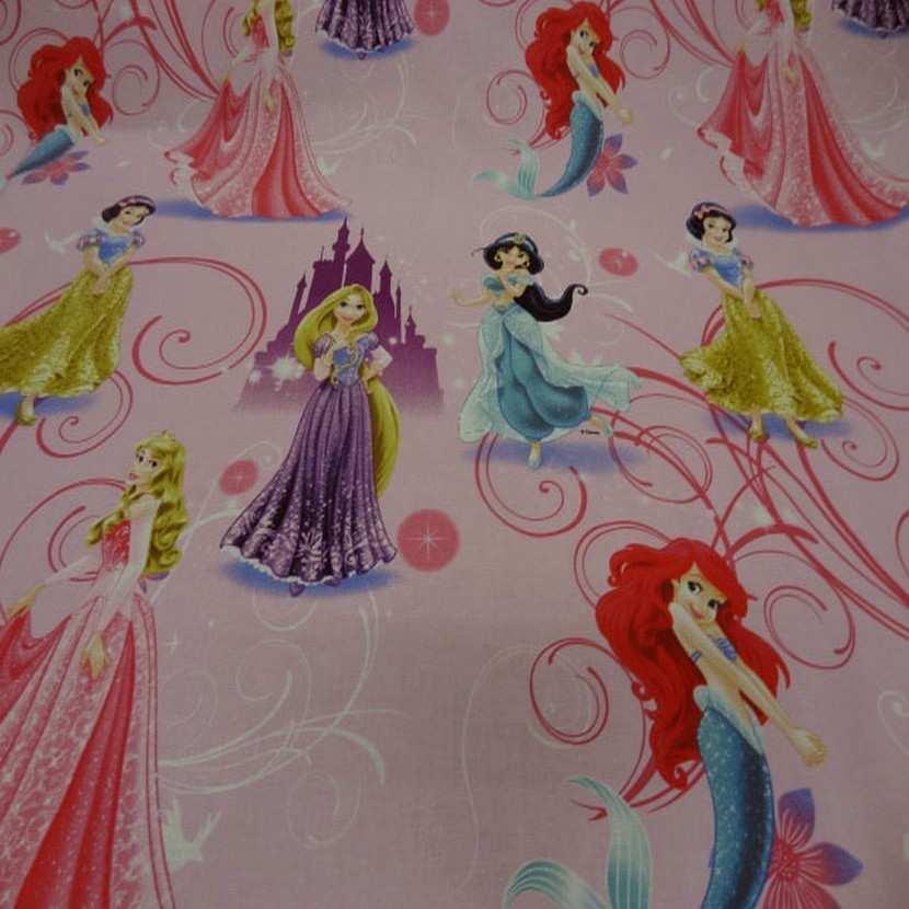 Coton imprime princesse walt disney3