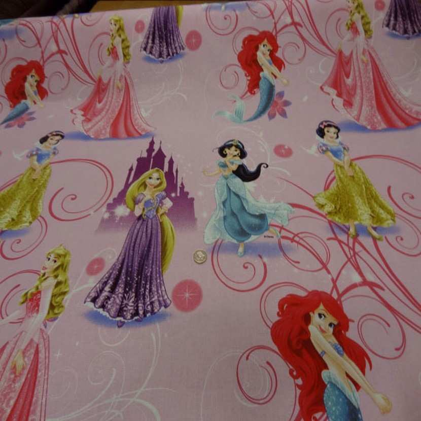 Coton imprime princesse walt disney9
