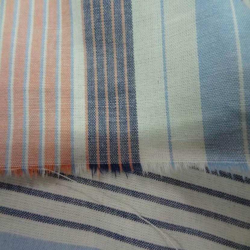 Coton imprime rayures en 1 60m de large9
