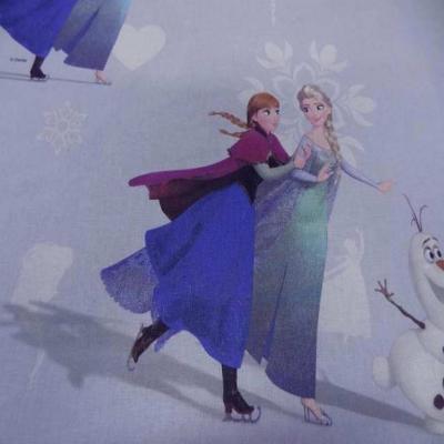 Coton imprime reine des neiges
