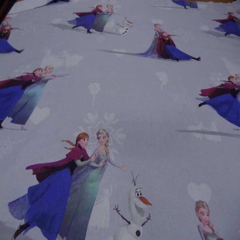 Coton imprime reine des neiges2