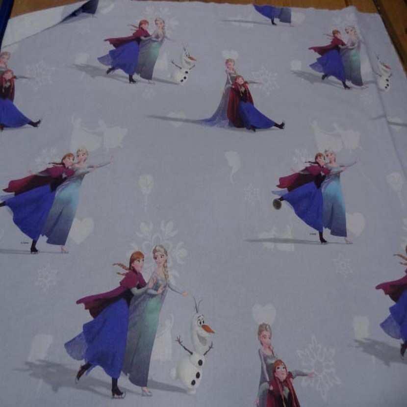 Coton imprime reine des neiges7