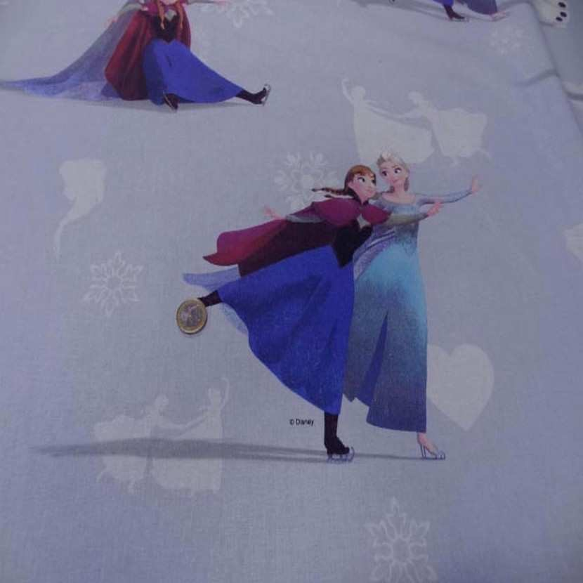 Coton imprime reine des neiges8