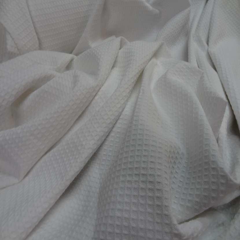 Coton nid d abeille blanc