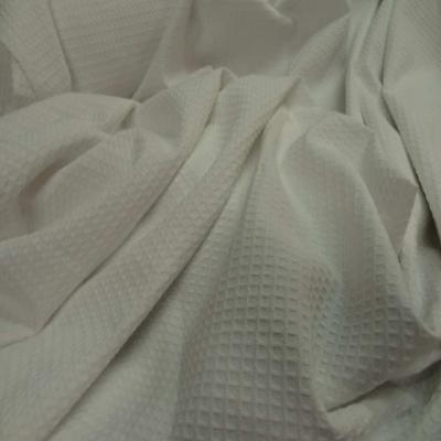 Coton nid d abeille ecrue