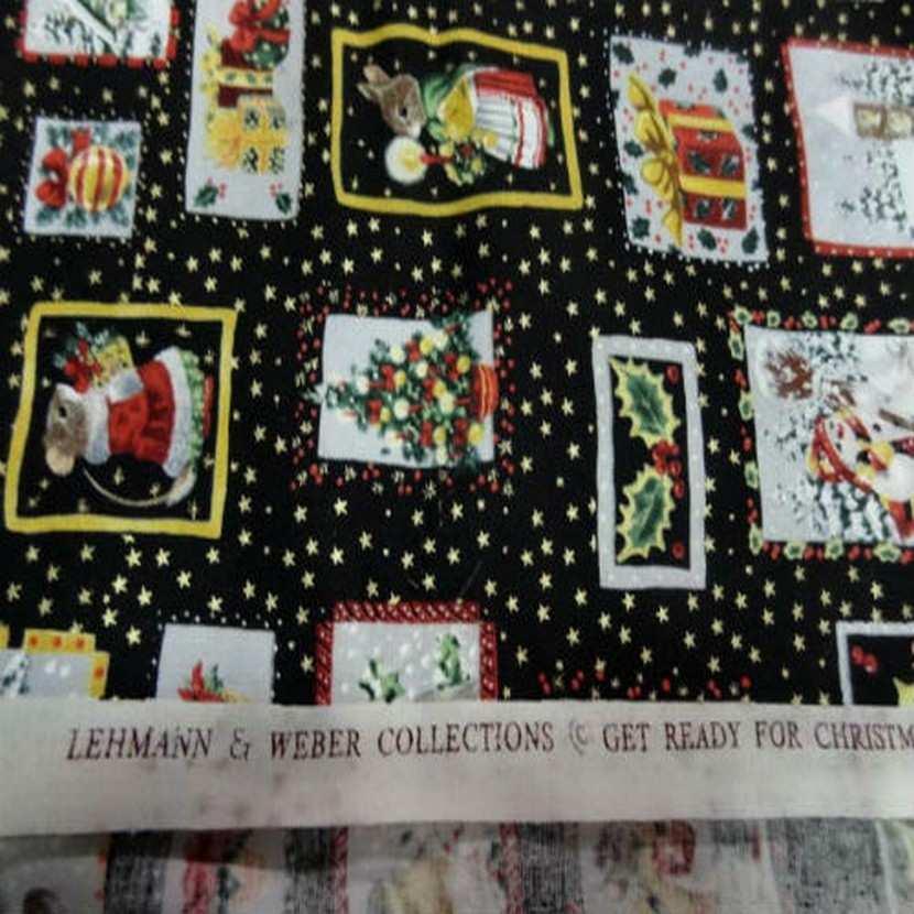 Coton noir imprime liberty8