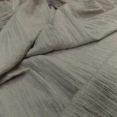 Coton plisse broderie anglaise vert tilleul