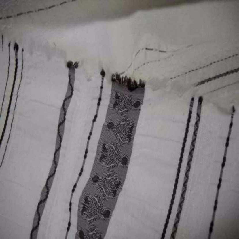 Coton polyamide fin faconne rayures ton creme marron7