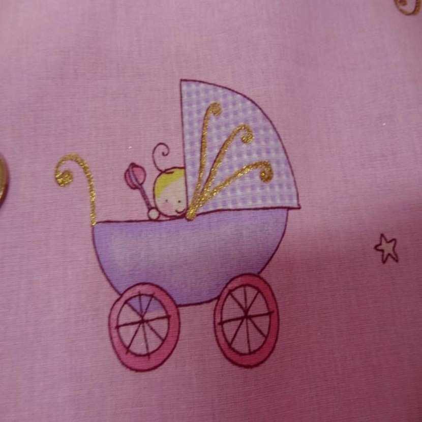 Coton rose imprime enfant pour les petits4