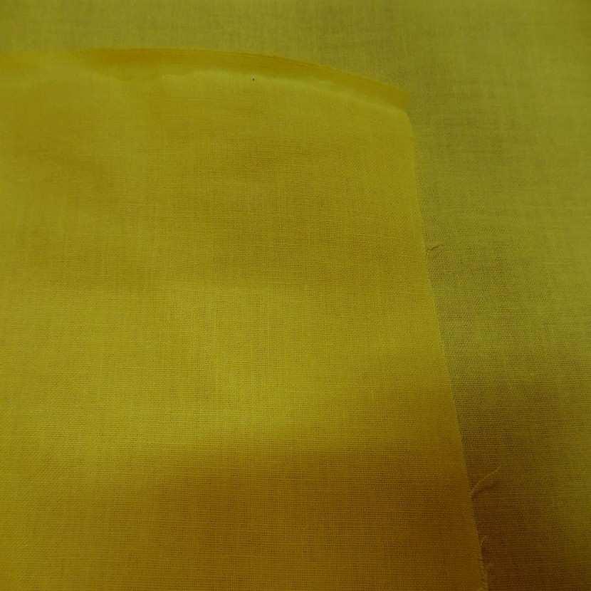 Coton uni jaune soleil1
