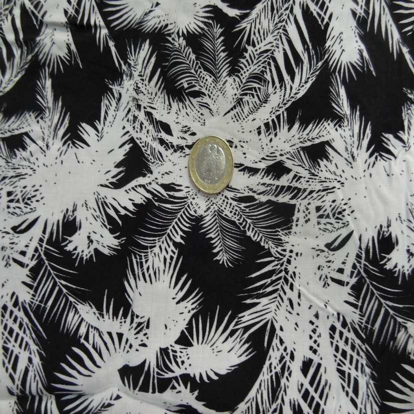 Coupon de 1 30m de coton viscose palmier6