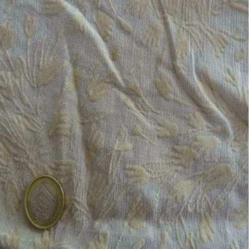 Coupon de 1 40 m de mousseline crepon velours