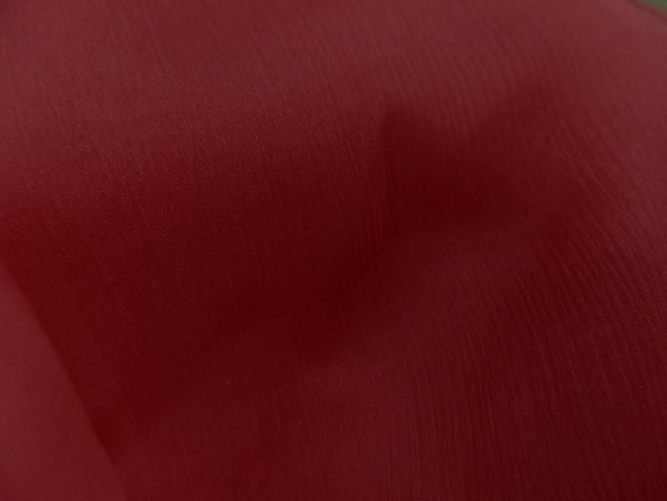 Coupon de 5m de mousseline de soie crepon ton rouge8