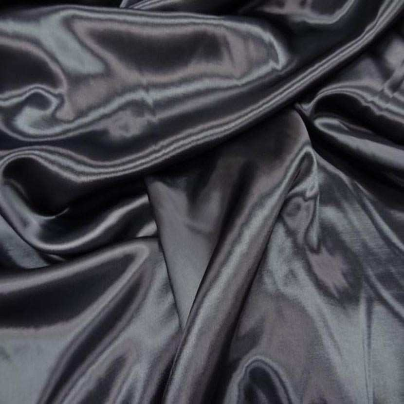 Coupon de beau satin en viscose ton gris anthracite1
