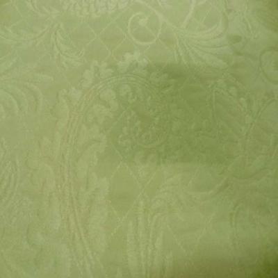 Coupon de coton pique vert clair damasse 2 50m sur 2 80m