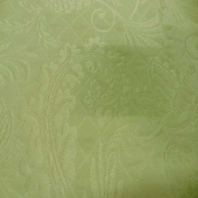 Coupon de coton pique vert clair damasse 2 50m sur 2 80m9