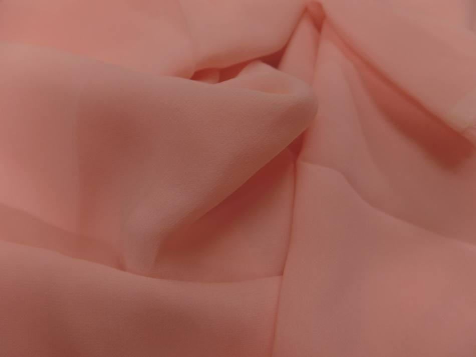 Coupon de crepe de soie fin ton rose clair 2 90m8