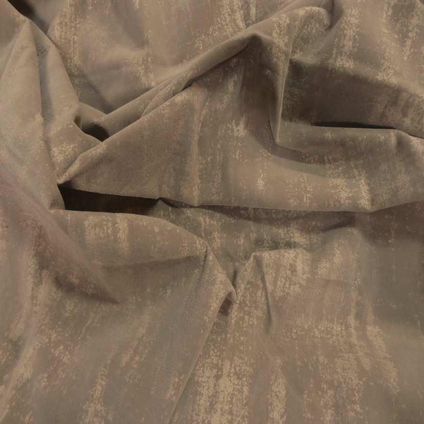 Coupon de gabardine beige coton a motifs devore velours 1 80m7