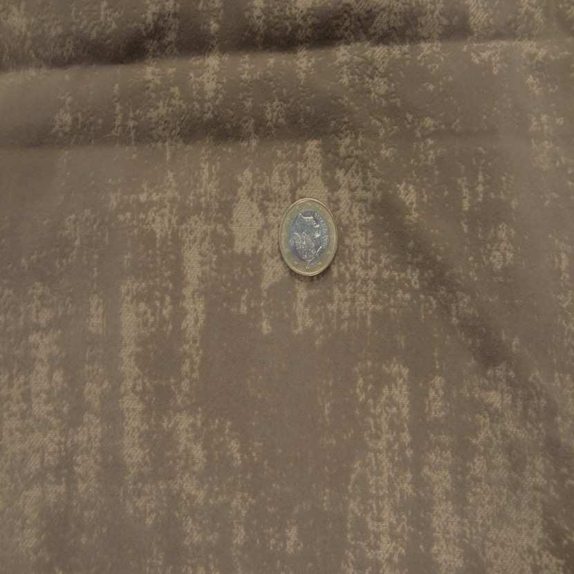 Coupon de gabardine beige coton a motifs devore velours 1 80m8