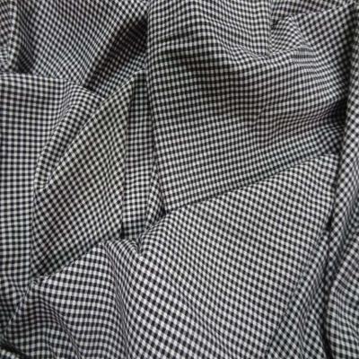 Coupon de jersey coton lycra imprime vichy noir et blanc 2 70m