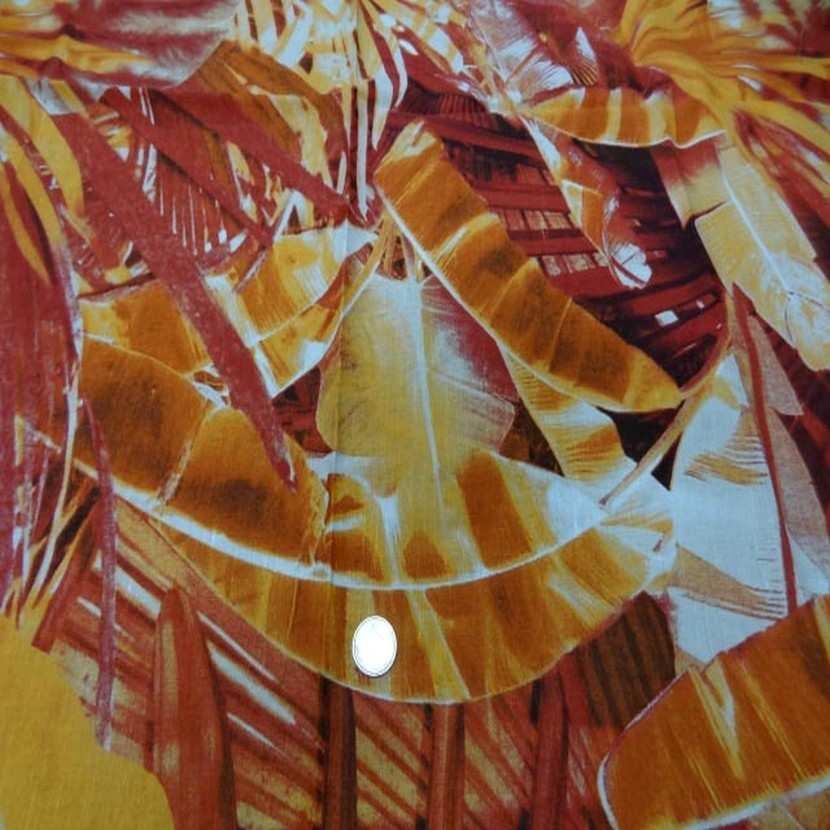 Coupon de lin imprime orange rouille6