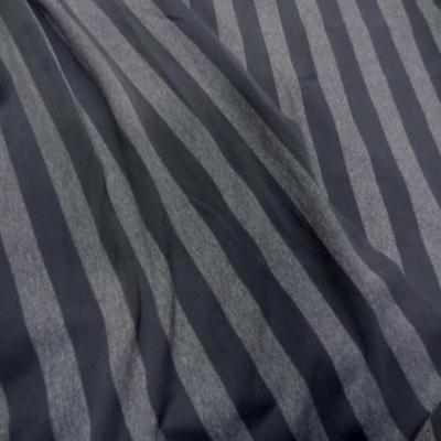 Coupon de lycra imprime rayures grise 2 80m