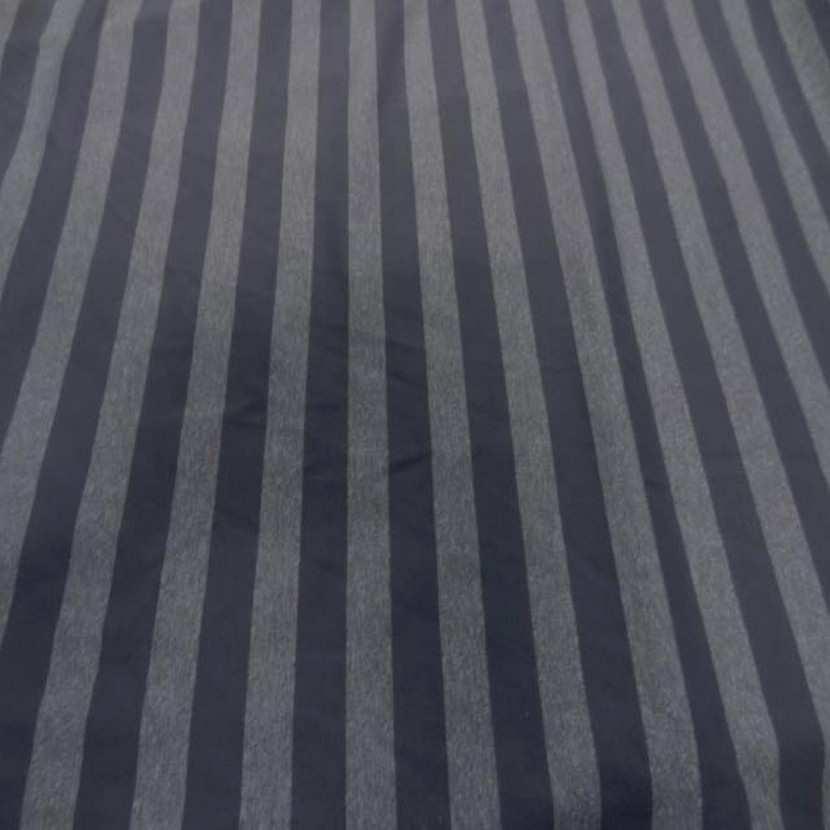 Coupon de lycra imprime rayures grise 2 80m36