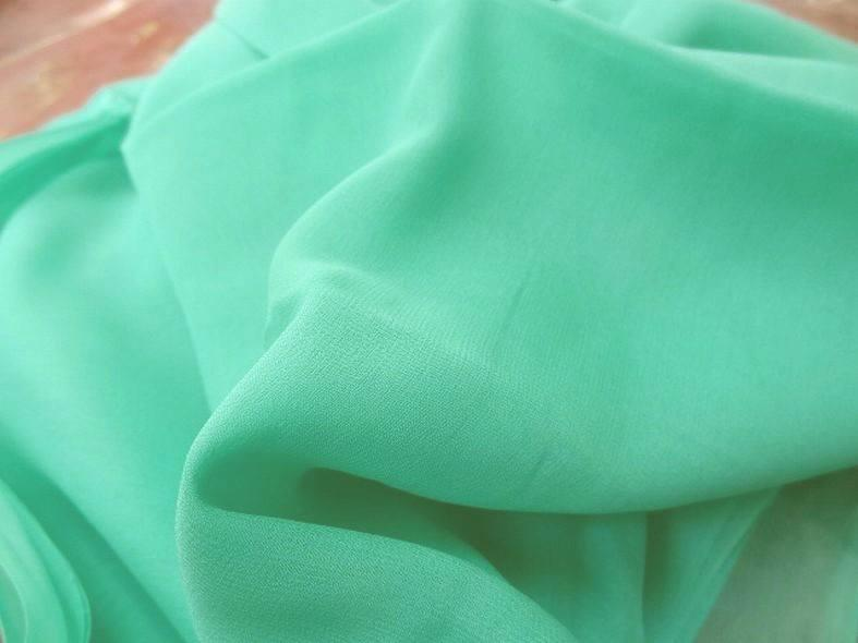 Coupon de mousseline de soie vert d eau2