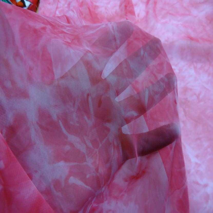 Coupon de mousseline faux uni ton rose 1 60m0