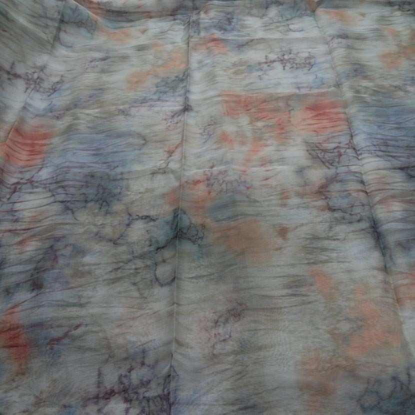 Coupon de mousseline polyester imprime 1 80m6