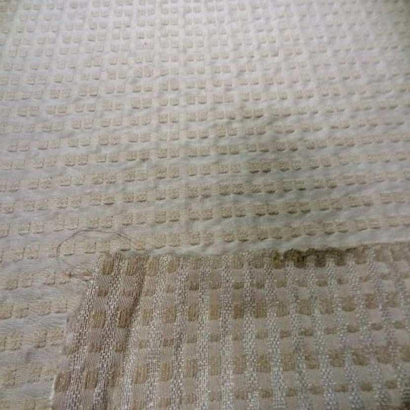 Coupon de soie faconne beige clair 2 90m
