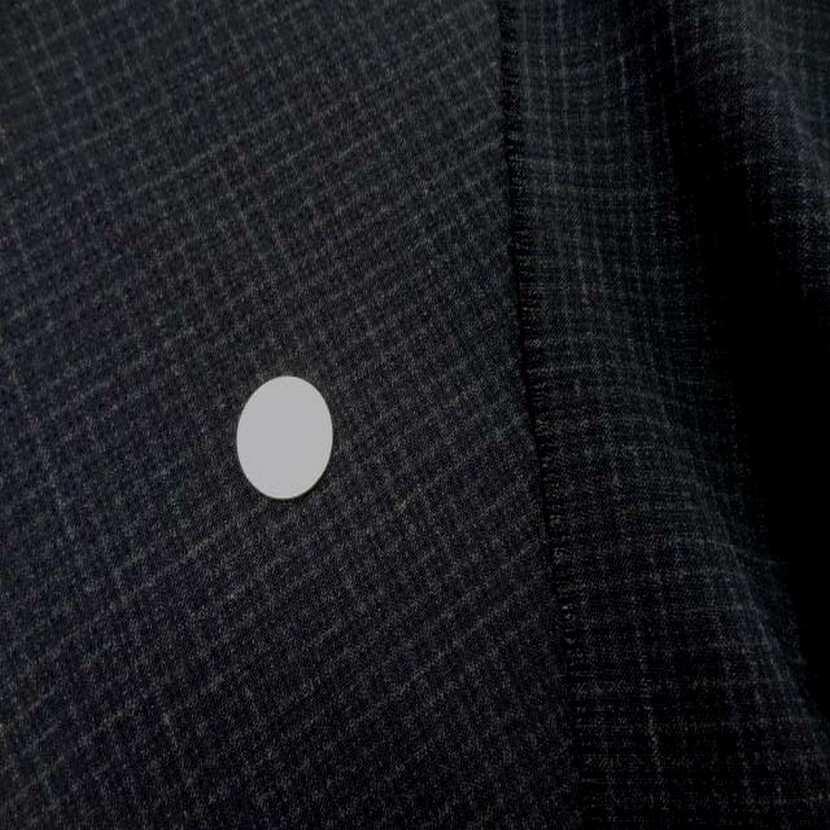 Coupon de tergal noir a petit carreaux 1 30m6
