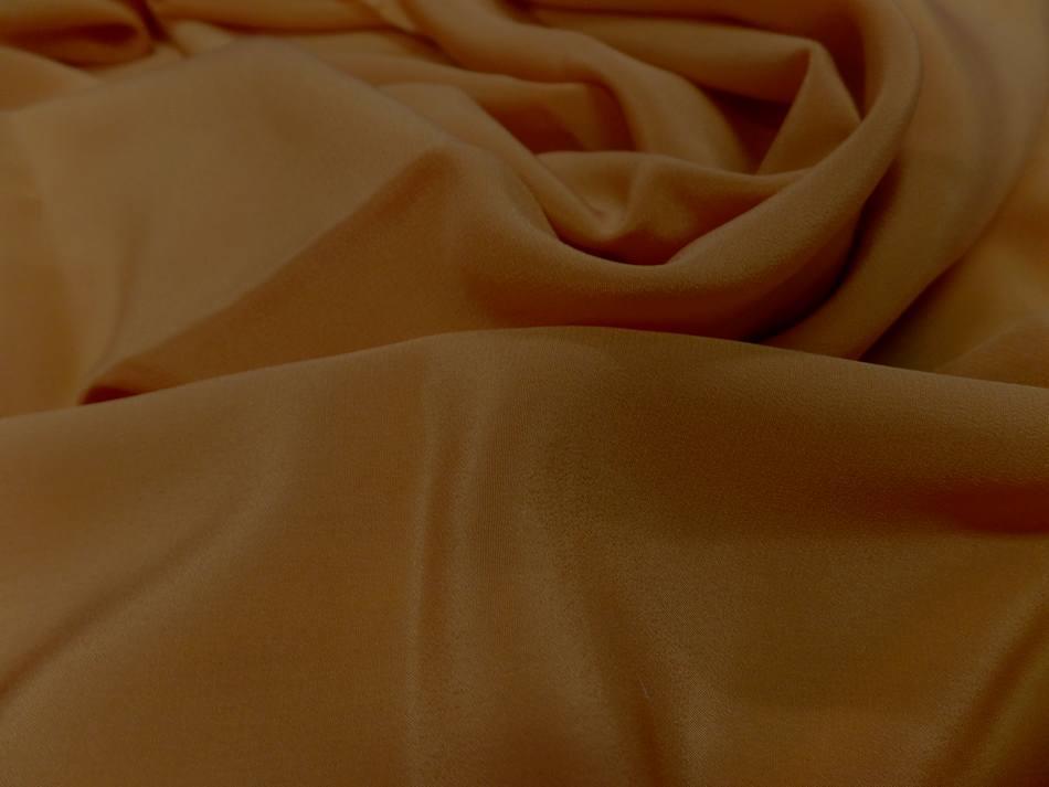 Coupon de tissu beau crepe de soie moutarde dore en ligne