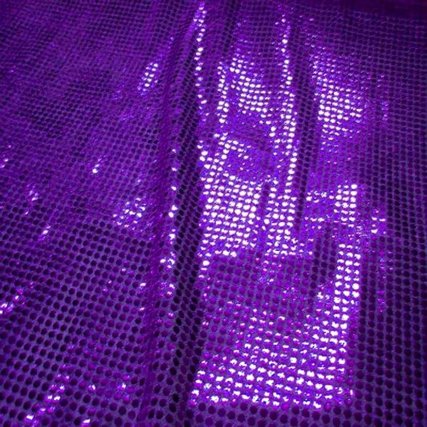 Coupon de tissu lavande fonce a paillettes ronde rose 1 20m