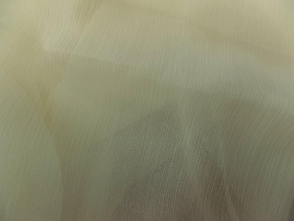 Coupon de tissu mousseline de soie jaune tres clair 3m sur 1 40m de large