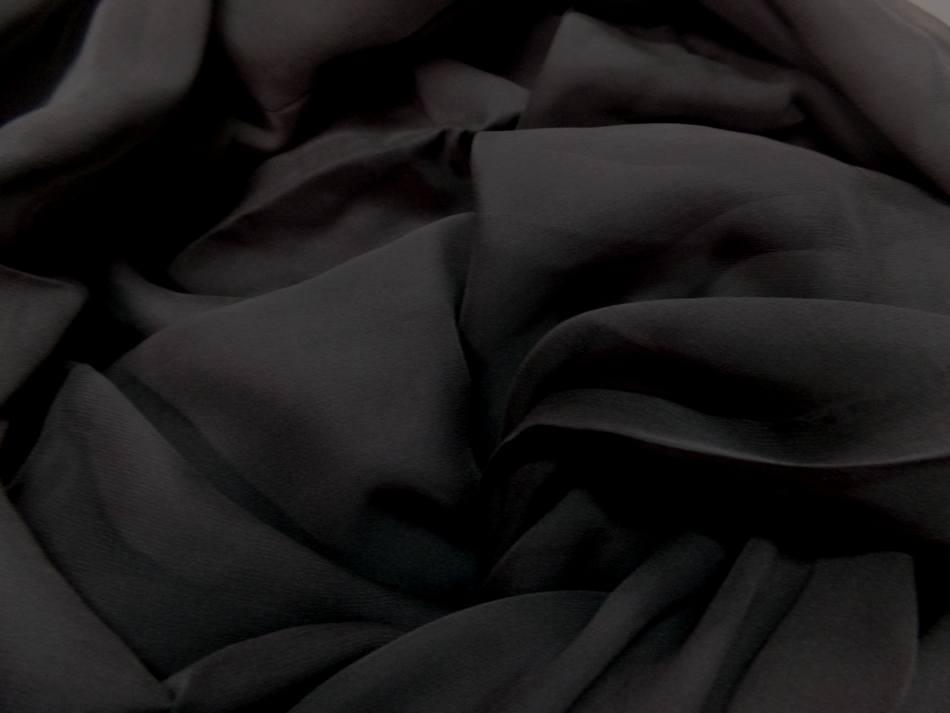 Coupon de tissu mousseline de soie marron