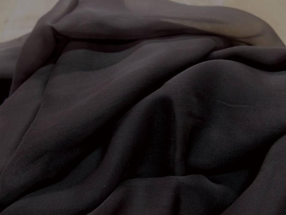Coupon de tissu mousseline de soie marron8