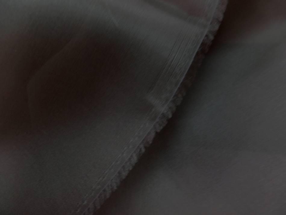Coupon de tissu organza de soie ton marron 1 95m