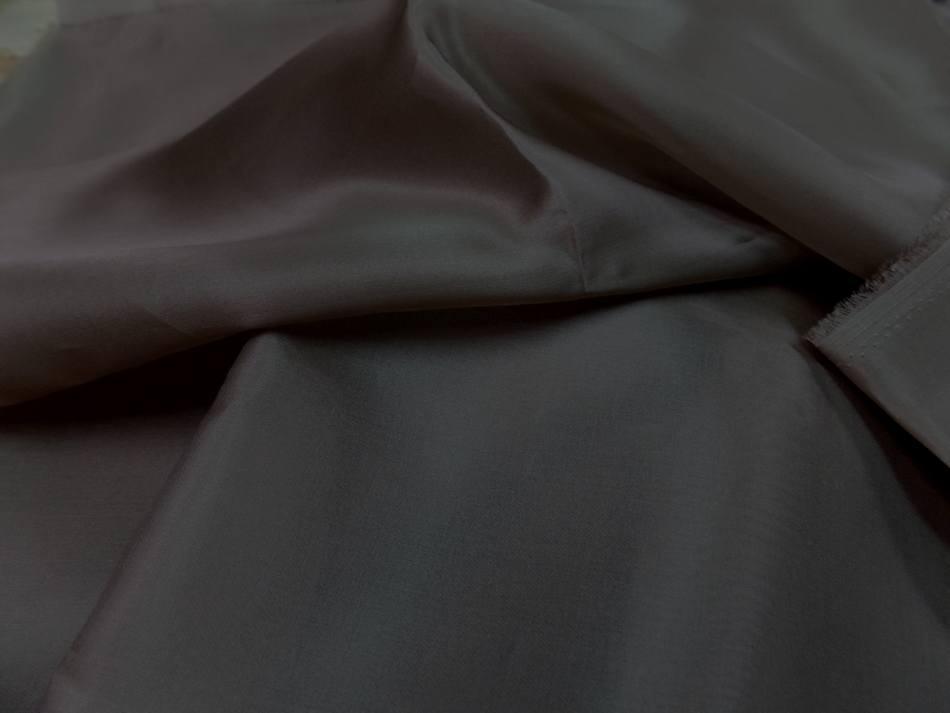 Coupon de tissu organza de soie ton marron pas cher