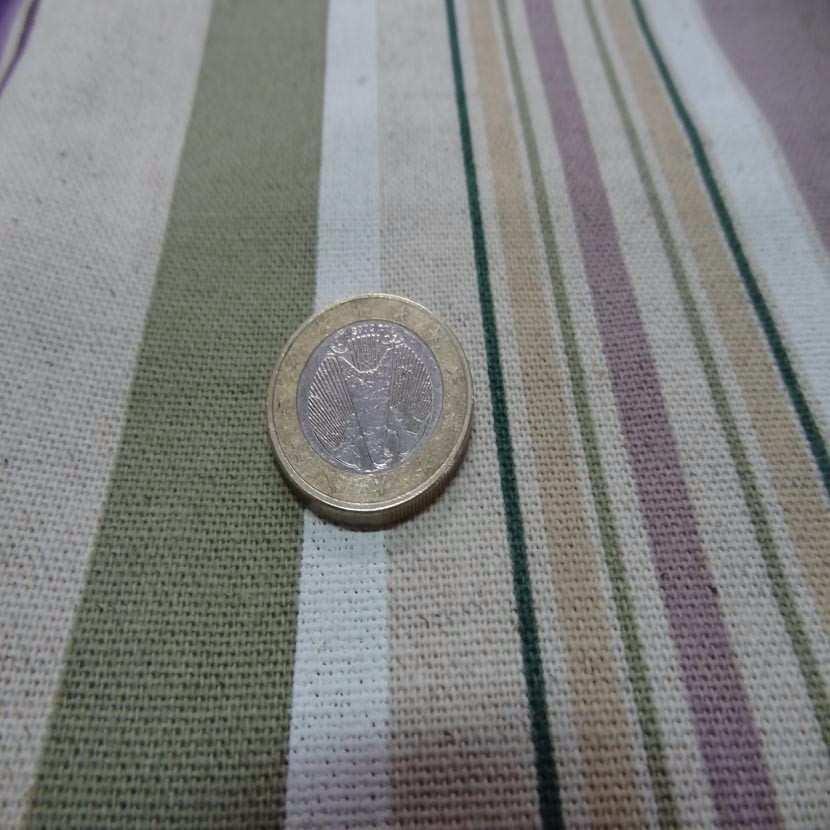 Coupon de toile de lin imprime rayures bayadere 1 20m sur 0 85m7