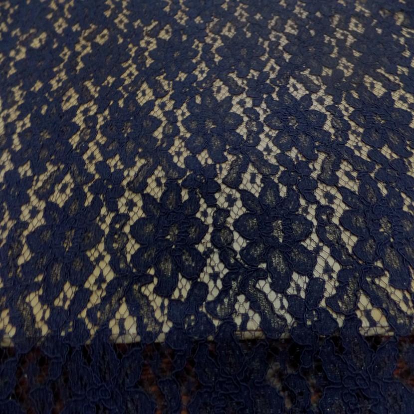 Coupon de tres belle guipure legere bleu nui0
